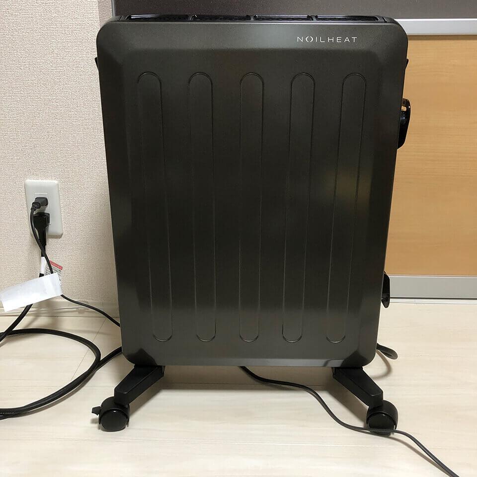 ノイルヒートという暖房器具はシンプルな外観です。